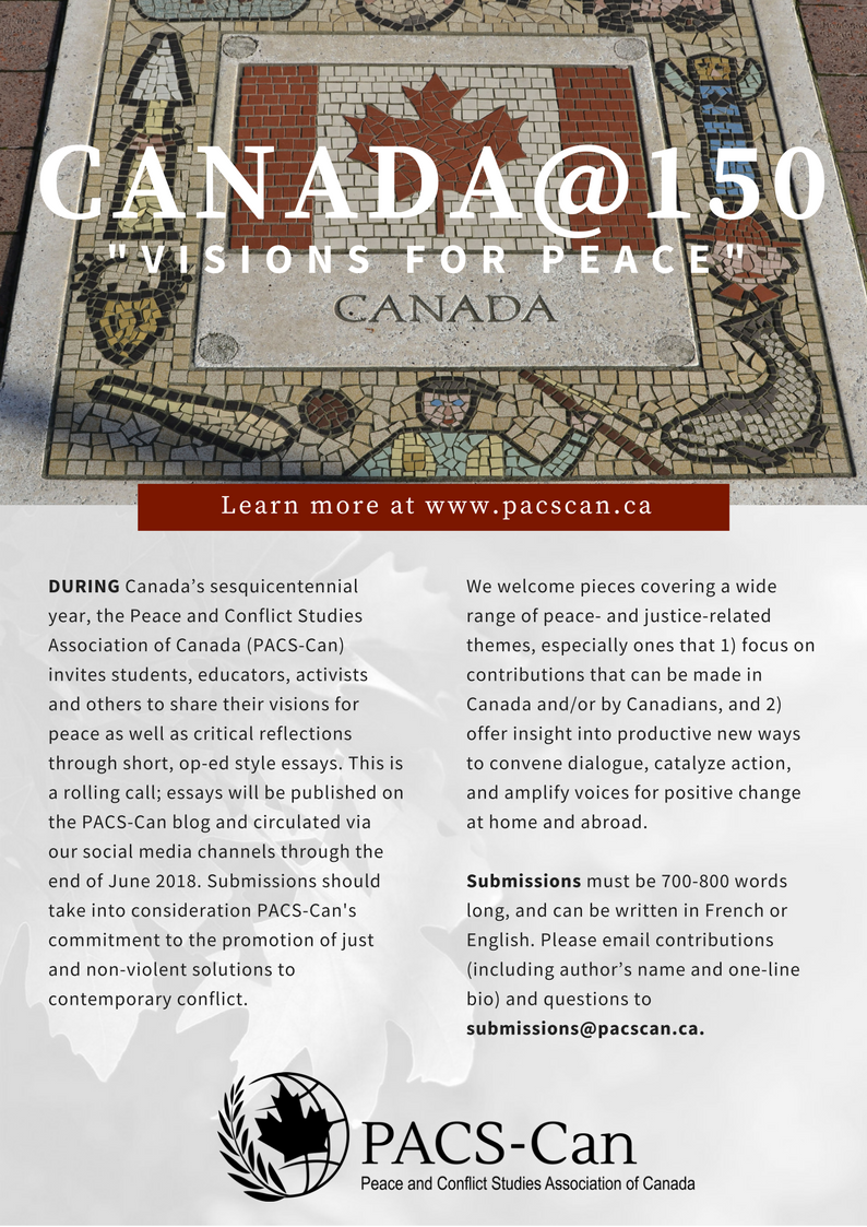 Canada@150: Visions for Peace call for submissions