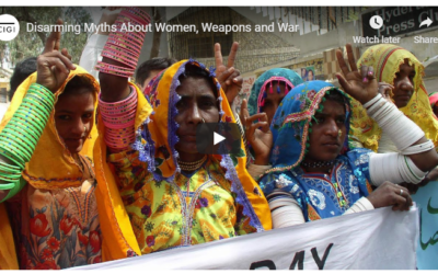 "Recorded Livestream: ""Disarming Myths about Women, Weapons and War"" with Allison Pytlak"