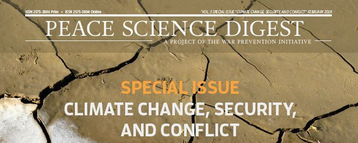 Peace Science Digest: Climate Change, Security, and Conflict Special Issue